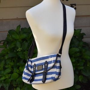 🌿 Icing • Blue Striped Nautical Purse